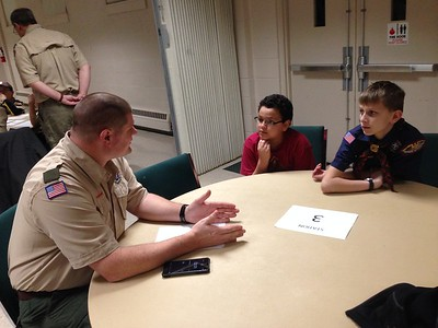 Webelos visit to Troop 74