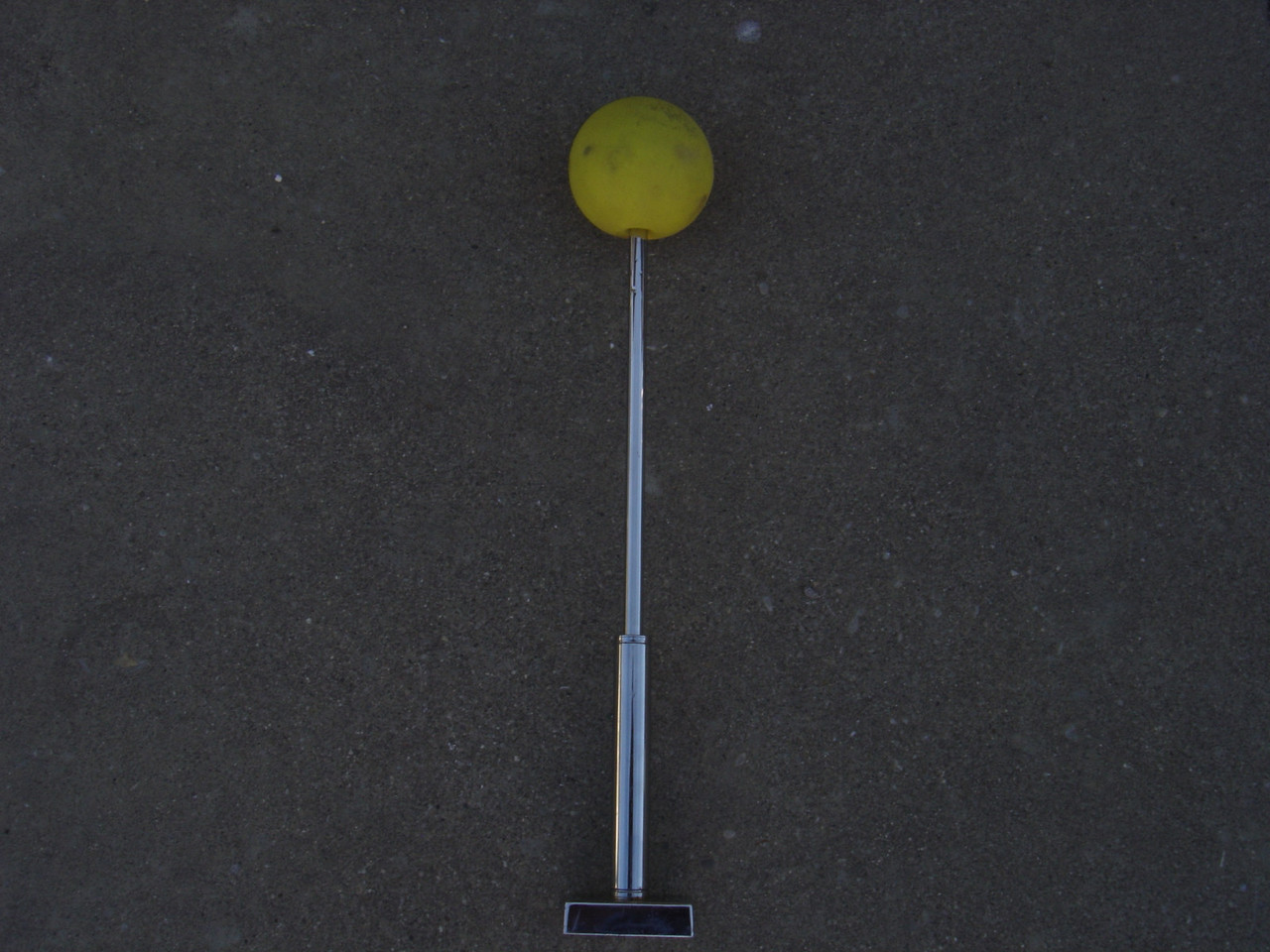 "Valley magnetic hitch aligner.  Telescoping poles  with magnets, and each has a bright yellow ball on the end. It extends up to 42"" and collapses down to 13-1/2"" for storage."