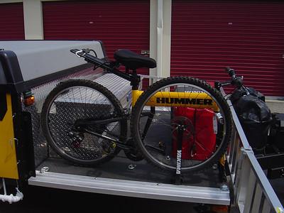 One bike mounted on deck