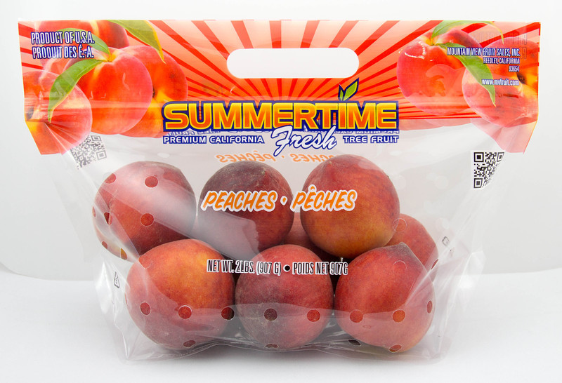 2lb. Pouch Bag Peach (10/master)