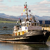 tug Venture entering James Watt dock