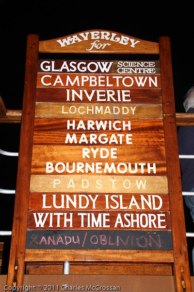 Fan board for the last trip of 2011 - from Greenock to Glasgow!