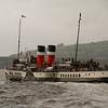Waverley on her last departure from Helensburgh in 2011