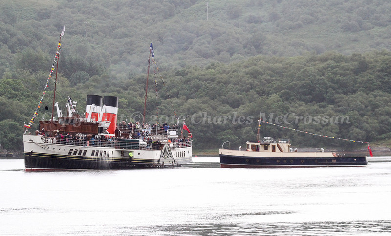 PS Waverley at anchor off Ormidale with The Second Snark