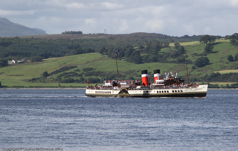 PS Waverley on her escort cruise for Cunarder Queen Elizabeth