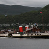 Waverley heading down Loch Long on an evening charter for the Girl Guides