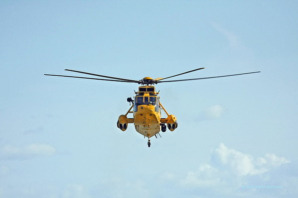 RAF Rescue Helicopter Excercise with Waverley off Clacton 4th October 2009