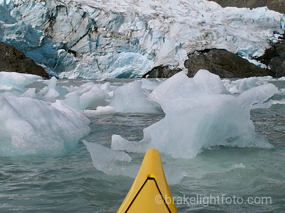 Mini Bergs in front of the Portage Glacier