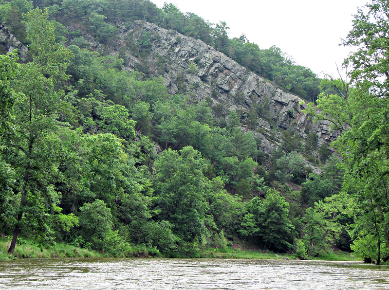 One of many stirring rock formations along the Cacapon.