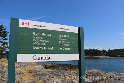 D'arcy Island Sign