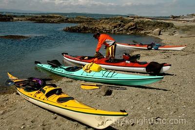 Kayaks on Discovery Island