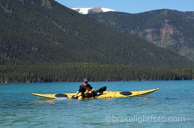 Kayaking at Muncho Lake, BC