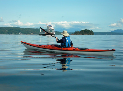 Kayaker & Brentwood Bay Ferry