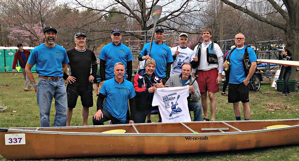 The KTP River Revelers:  Top (L-R): Mark, Dan, Blake, Karl, Mike, Dave J., Drew, Bottom: Captain Gary, Kev, Dave L.