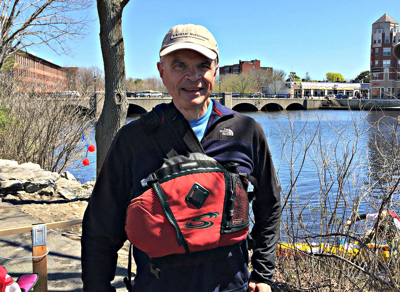 At the end of the Fourth Leg, at Moody Street Dam in Waltham.