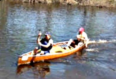 Blake and Kev finishing Leg 3.