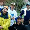 The 2008 Deluxe Edition of the River Revelers, from the left (excluding dog): Drew, Dan, Dave J., Wild Bill, Mike, Karl, Blake (back), Kev (front), Billy Mac.  Dave L. was doing some good deed. Penumbra courtesy of Dave M.'s thumb.