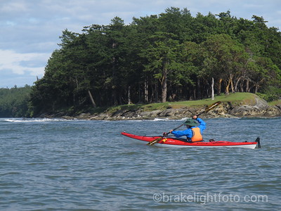 Kayak past the North West Tip of Tumbo Island