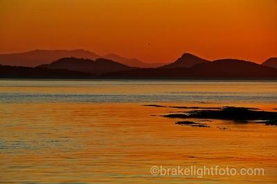 Sunset Over Saturna Island