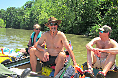 Rafting, of which we did a lot.  Jim, Karl and Dave J.
