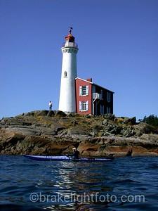 Kayaking Past Fisgard Lighthouse
