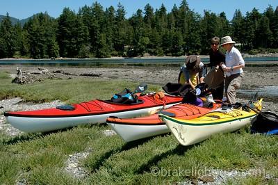 Kayakers in Sooke Basin