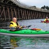 Kayakers by the Selkirk Trestle