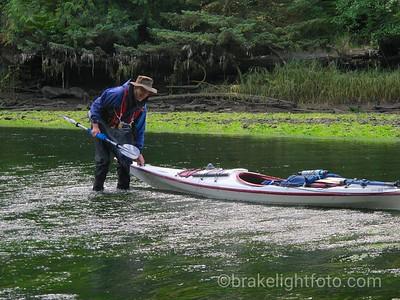 Moving Kayaks across a Shallow Bar on the San Josef River