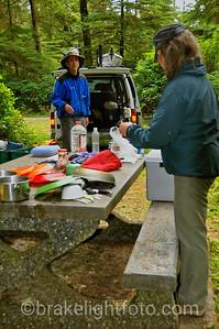 Camping at San Josef Bay