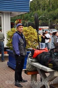 Waiting to board the ferry in Port Hardy