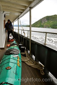 Kayaks stored on Lower Deck of Uchuck