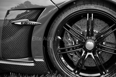 Pagani Huayra BC Rim Details Black and White