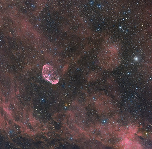 The Crescent Nebula (also known as NGC 6888)