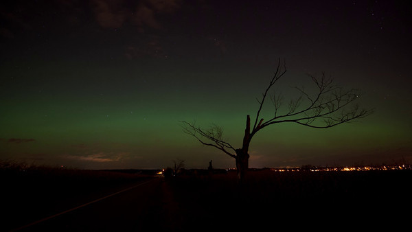 """I was taking a timelapse while the Aurora seemed to be on the horizon. It stops suddenly because I realized that most of the """"good stuff"""" was happening outside the field of view of the camera. I had no idea what was about to happen, let alone where!  So I took the stills you see here after ending the timelapse. I think it was the right thing to do. Malcolm Park"""