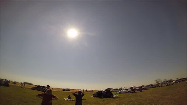 GoPro real time video of the eclipse (10 minutes)