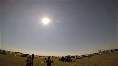 GoPro accelerated video of totality
