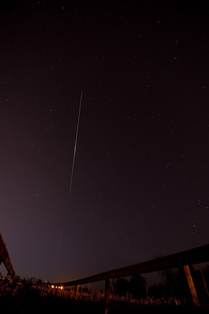 Then the ISS flares as it chases Endeavour Feb 21 2010 5:45am