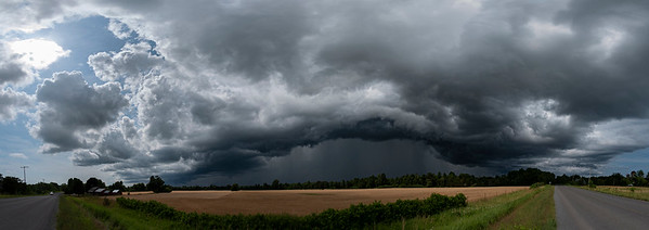 thundershower over Greater Napanee seen from PEC 7/12/20