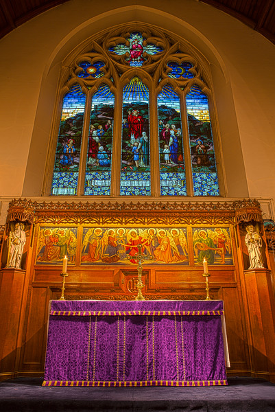 The altar at St Barnabas Church in Sutton