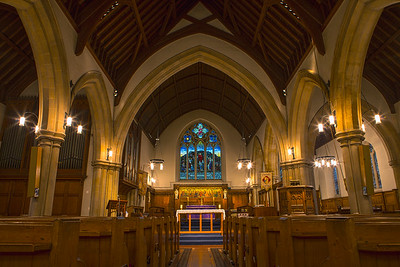Interior of St Barnabas Church in Sutton