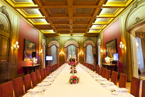 Titanic table at the Spanish Embassy in London
