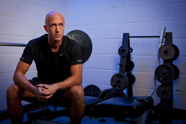 Male fitness instructor gym portrait