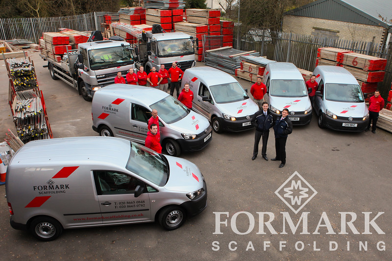 Corporate Photograph of Formark Scaffolding Fleet