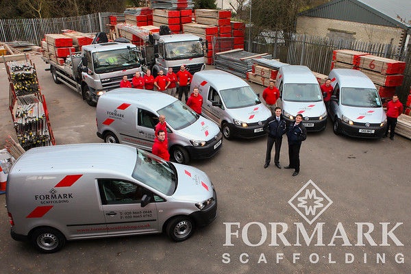 Corporate Photograph of Formark Scaffolding Fleet