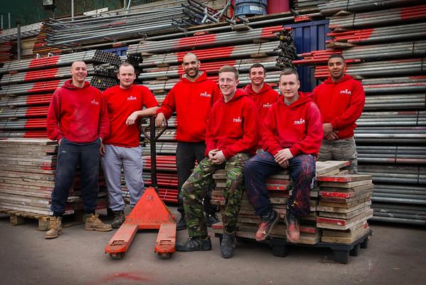 Scaffolders Work Force