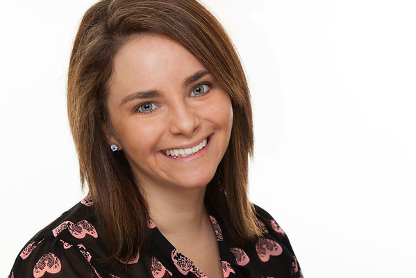 Young female corporate head shot