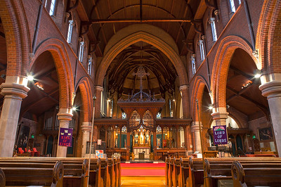 Interior of Christ Church in Sutton, Surrey