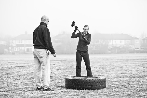 Lady enjoying a fitness bootcamp in Warlingham