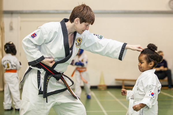 Martial Arts teacher with pupil