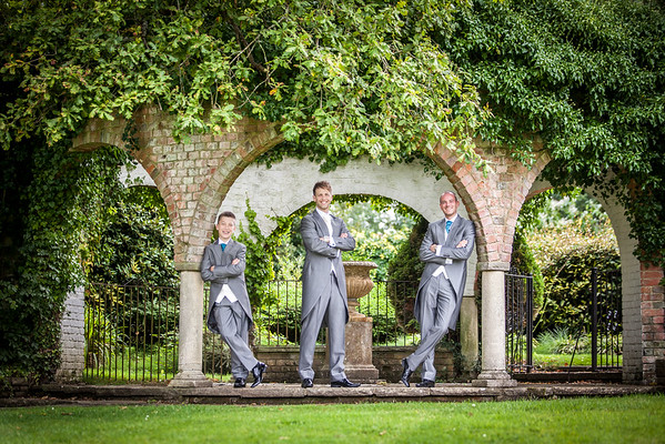 Groom and his groomsmen at Ghyll Manor in Rusper